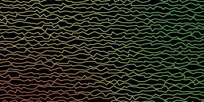 textura de vector multicolor oscuro con líneas torcidas.