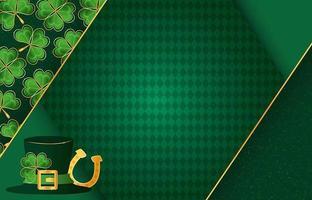 Saint Patrick's Day Background Design vector