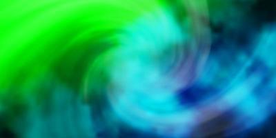 plantilla de vector azul claro, verde con cielo, nubes.