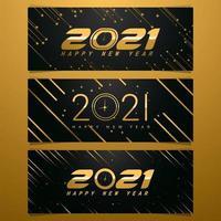 concepto de banner de cuenta regresiva de año nuevo vector