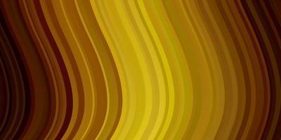 Fondo de vector verde oscuro, amarillo con líneas dobladas.
