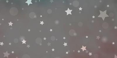 patrón de vector rosa claro, verde con círculos, estrellas.