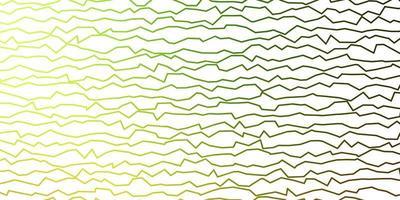 patrón de vector verde oscuro, amarillo con líneas torcidas.