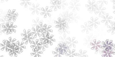 diseño abstracto de vector gris claro con hojas.