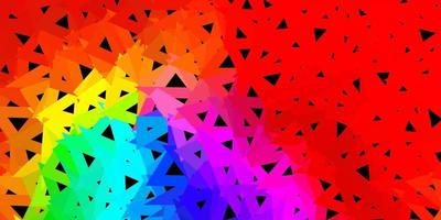 Dark multicolor vector abstract triangle pattern.