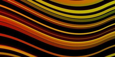 Dark Multicolor vector background with curves.