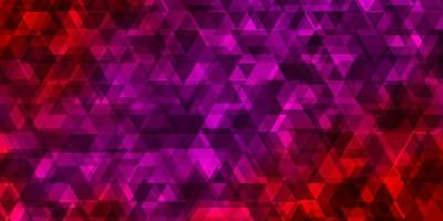 Light Pink, Red vector backdrop with lines, triangles.