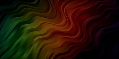 Fondo de vector verde oscuro, rojo con líneas.