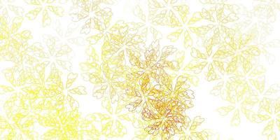 Plantilla abstracta de vector naranja claro con hojas.