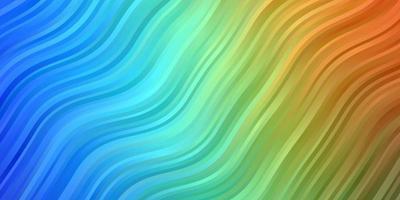 Fondo de vector multicolor oscuro con curvas.