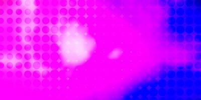 Light Purple, Pink vector background with circles.