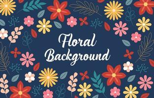 polvo tropical floral vector
