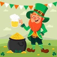 Leprechaun Celebrating Saint Patrick's Day