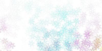 Fondo abstracto de vector multicolor claro con hojas.