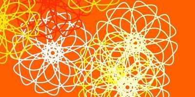 diseño natural del vector rojo claro, amarillo con flores.