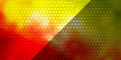 diseño de vector multicolor oscuro con círculos.