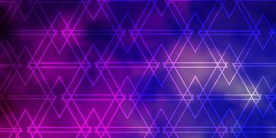 Light Purple, Pink vector texture with triangular style.