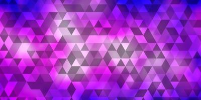 Light Pink, Blue vector background with triangles.