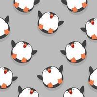 lindo, pingüino, sueño, seamless, patrón, plano de fondo vector