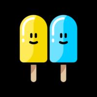 Double ice cream icon design vector