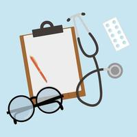 Medical workplace set vector