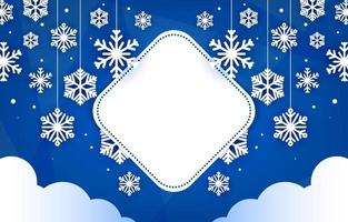Hanging Nature Snowflakes Paper Style