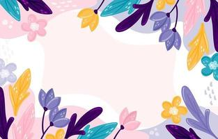 Hand Drawn Colorful Floral Background vector