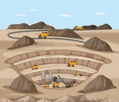 Landscape of coal mine vector