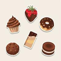 Sweet Six Chocolate Dessert vector