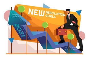 Walking to The New Resolution Goals vector