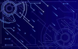 Dark Blue Techno Background vector