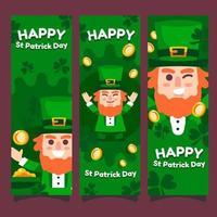 Saint Patrick Leprechaun Banner vector