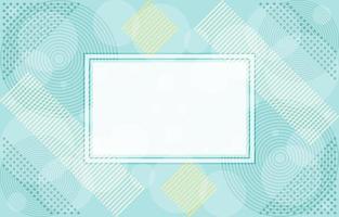 Composición de patrón abstracto de color suave con marco blanco vector