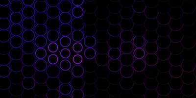 Dark Purple vector backdrop with circles.