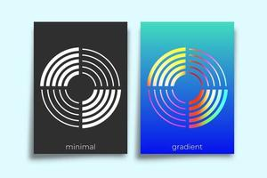 Abstract geometric gradient texture background set vector