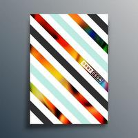 Abstract geometric typography poster