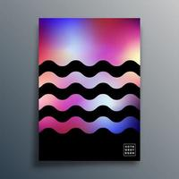 Gradient texture waves design for background vector