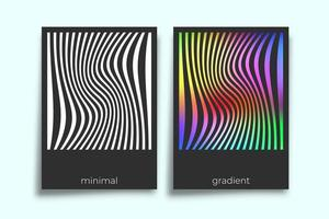 Abstract geometric gradient texture minimal design set vector
