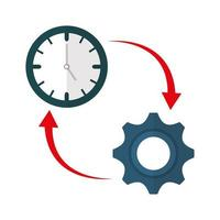 Isolated clock and gear vector design