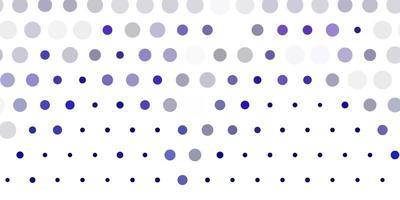 patrón de vector púrpura claro con esferas.