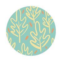 rama y hojas estilo de bloque de patrón orgánico