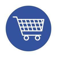 carrito de compras estilo de bloque de mercado