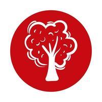 tree plant block style icon