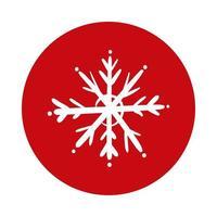 snowflake ice block style icon