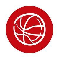 basketball block style icon vector