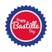 bastille day lettering in seal hand draw style