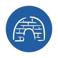igloo ice block style icon