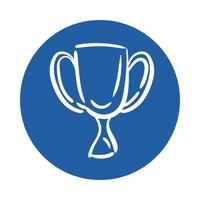 trophy cup block style icon