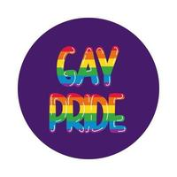 estilo de bloque de letras del orgullo gay