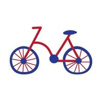 bicycle old hand draw style icon vector
